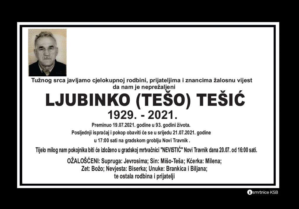Read more about the article Ljubinko (Tešo) Tešić