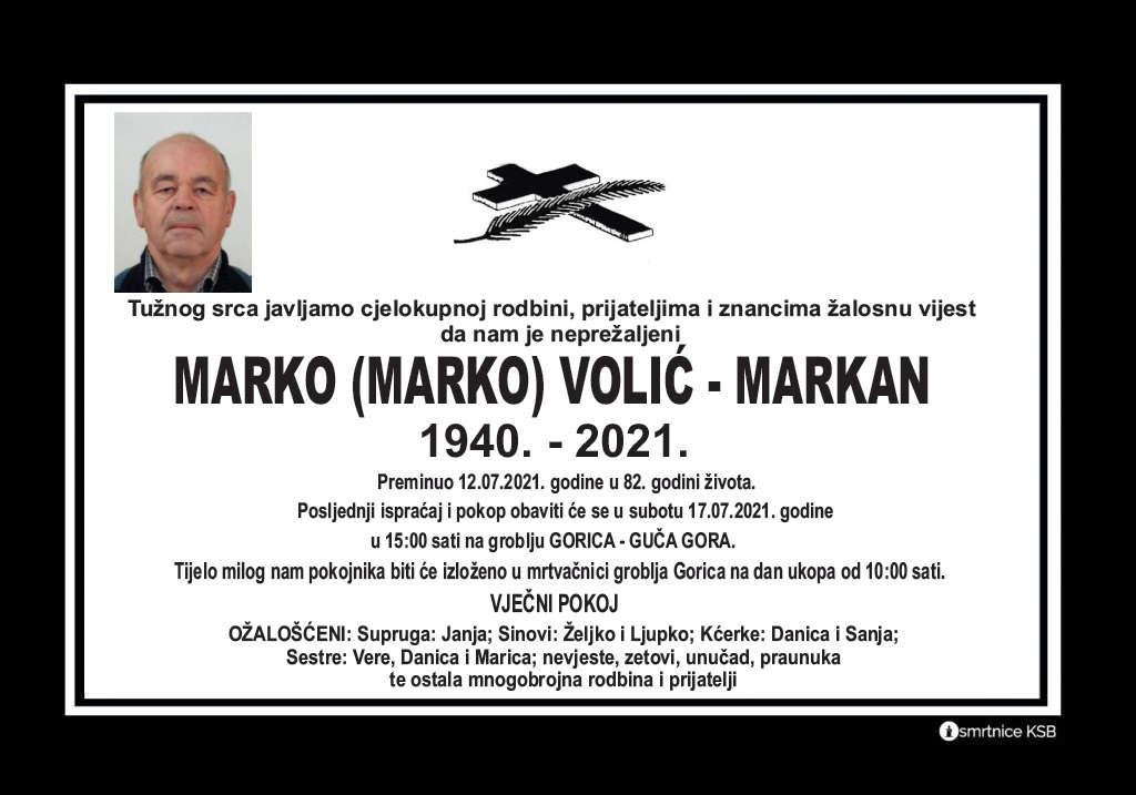 Read more about the article Marko (Marko) Volić – Markan