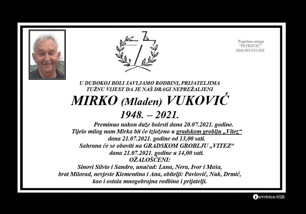 Read more about the article Mirko (Mladen) Vuković