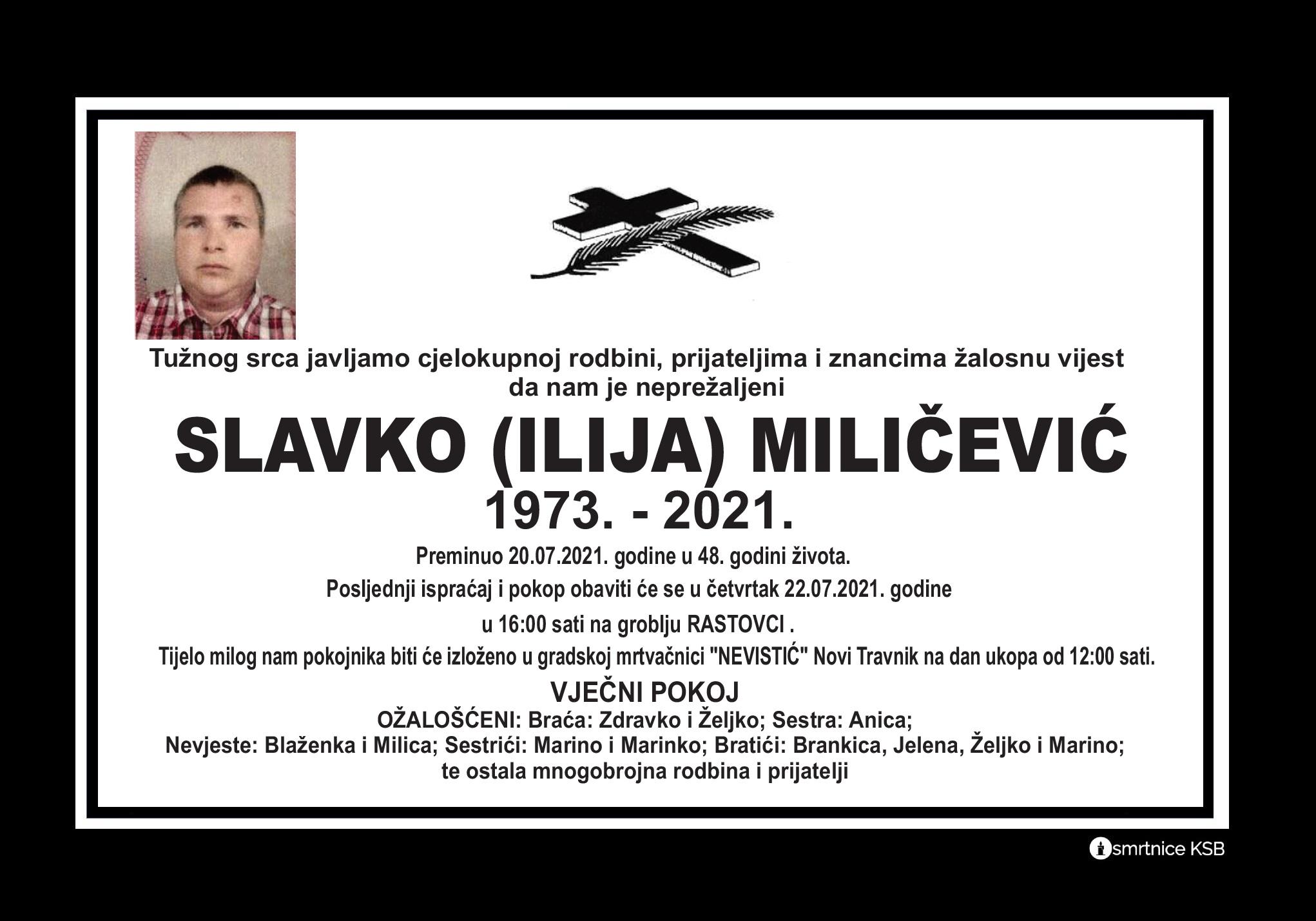 Read more about the article Slavko (Ilija) Miličević