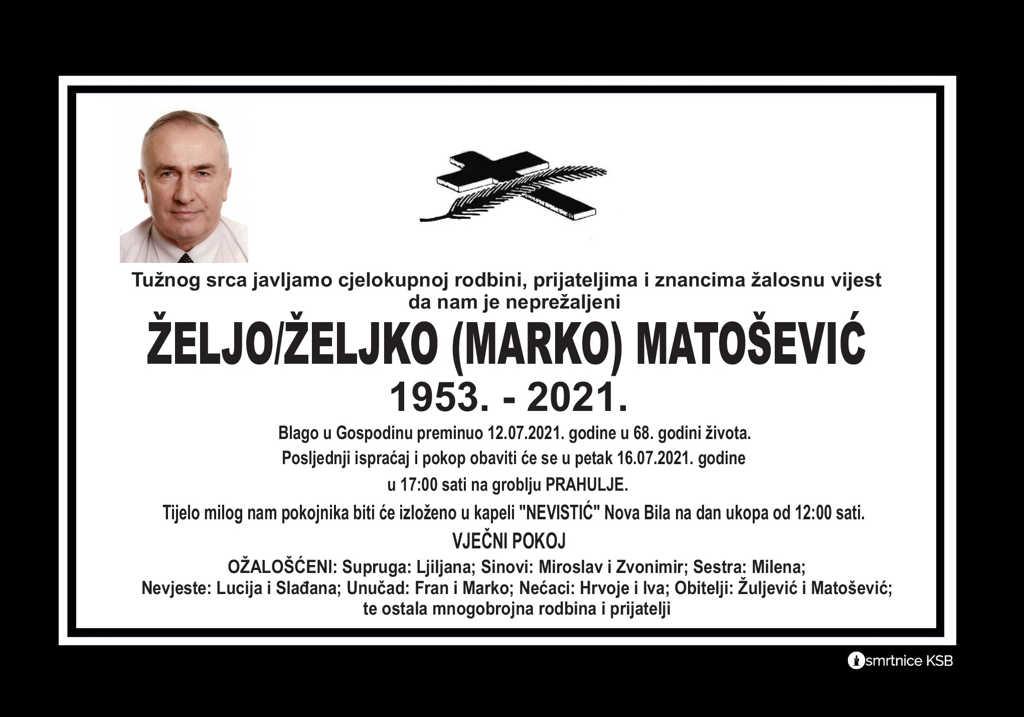 Read more about the article Željo/Željko (Marko) Matošević
