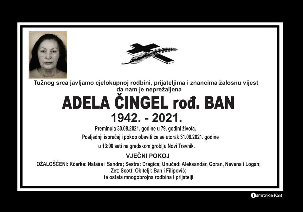 Pročitajte više o članku Adela Čingel rođ. Ban