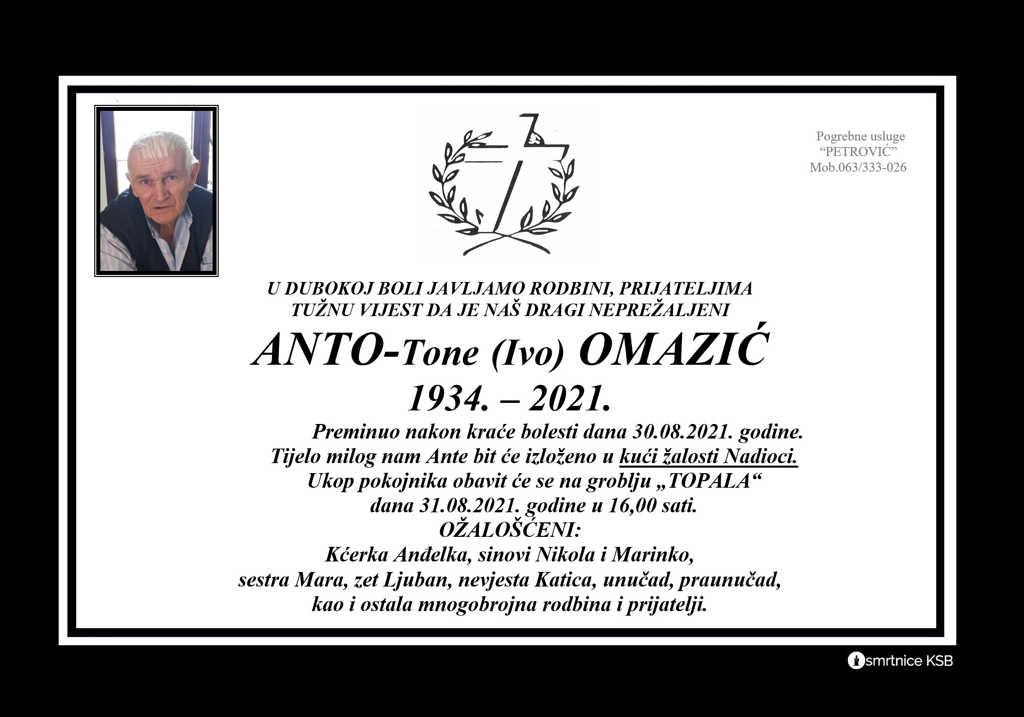 Pročitajte više o članku Anto-Tone (Ivo) Omazić