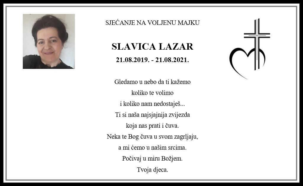 Pročitajte više o članku Sjećanje: Slavica Lazar