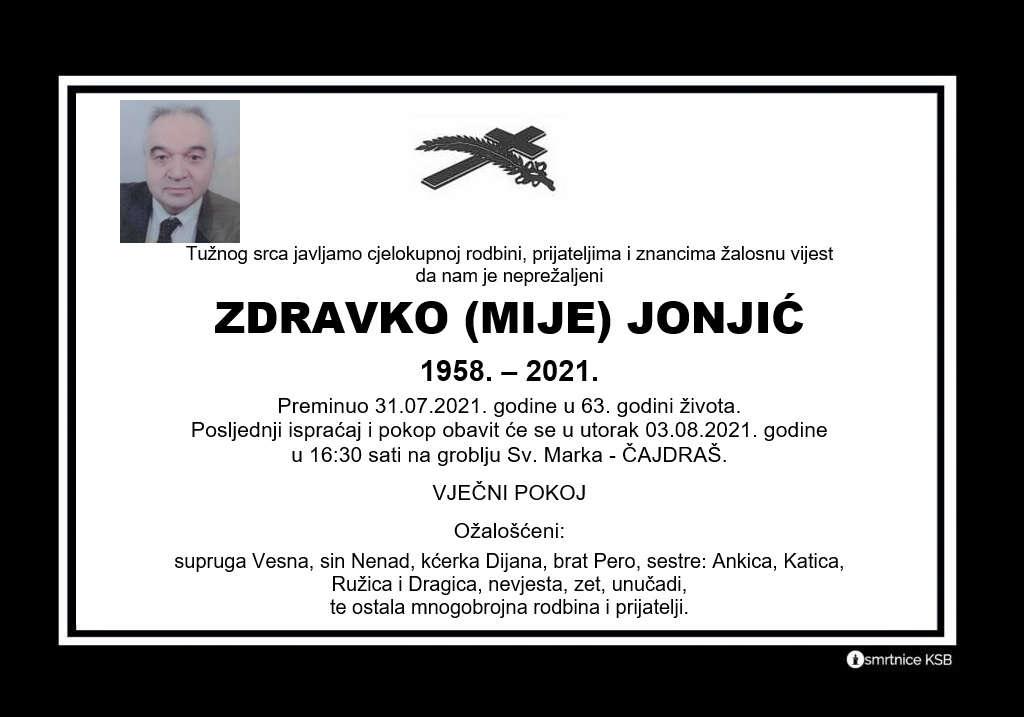 Read more about the article Zdravko (Mije) Jonjić