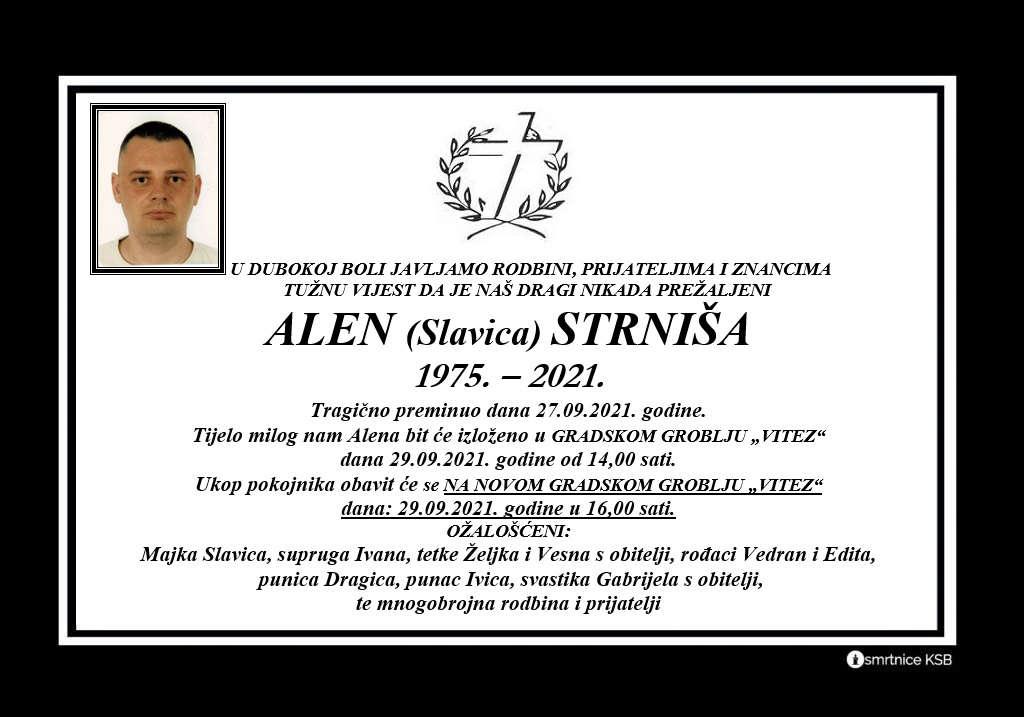 Pročitajte više o članku Alen (Slavica) Strniša
