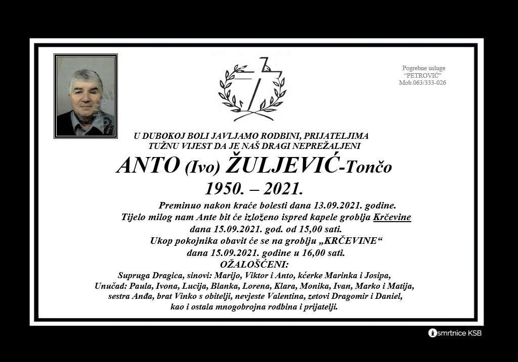 Pročitajte više o članku Anto (Ivo) Žuljević – Tončo
