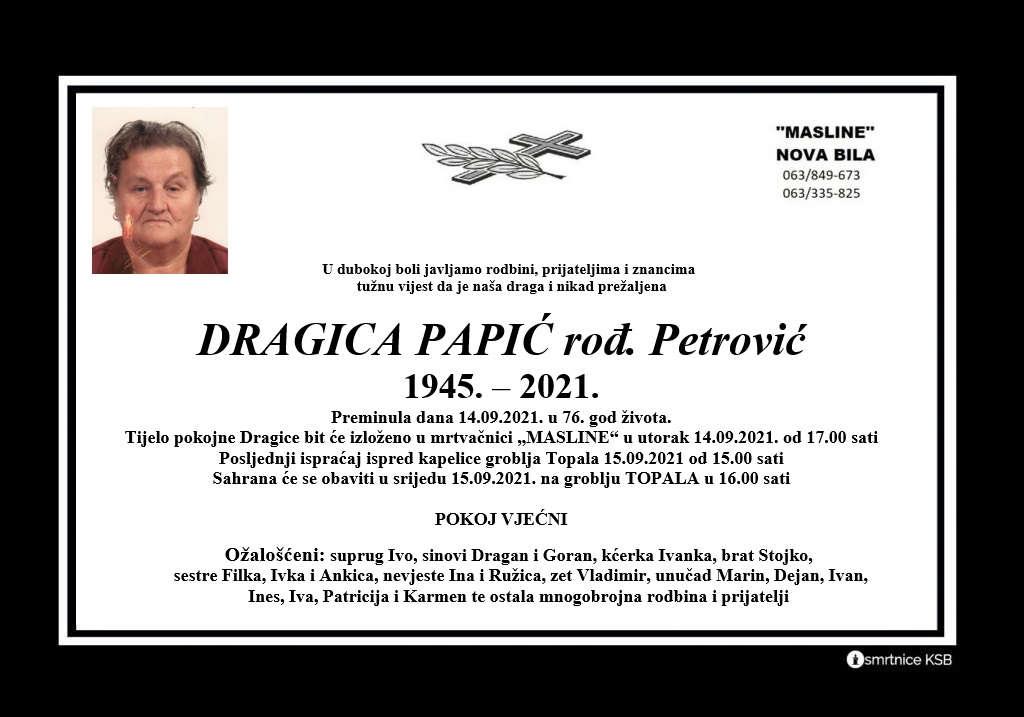 Pročitajte više o članku Dragica Papić rođ. Petrović