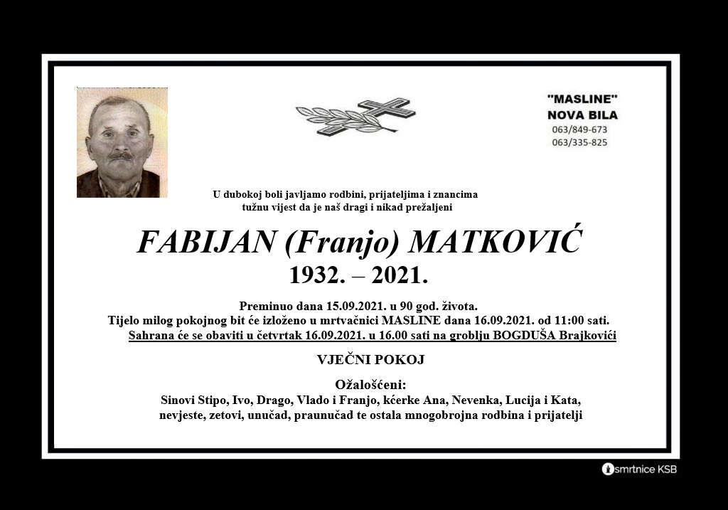 Pročitajte više o članku Fabijan (Franjo) Matković