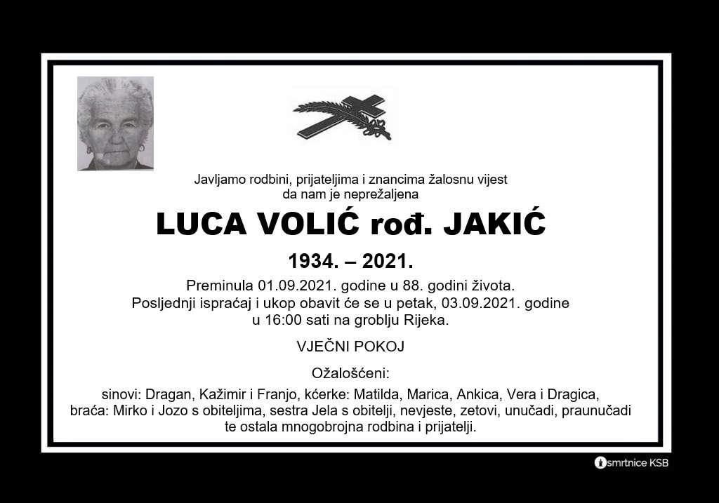Pročitajte više o članku Luca Volić rođ. Jakić