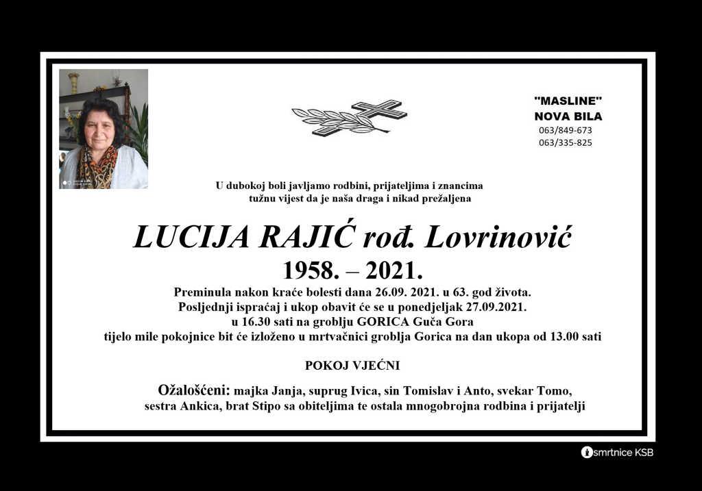 Pročitajte više o članku Lucija Rajić rođ. Lovrinović