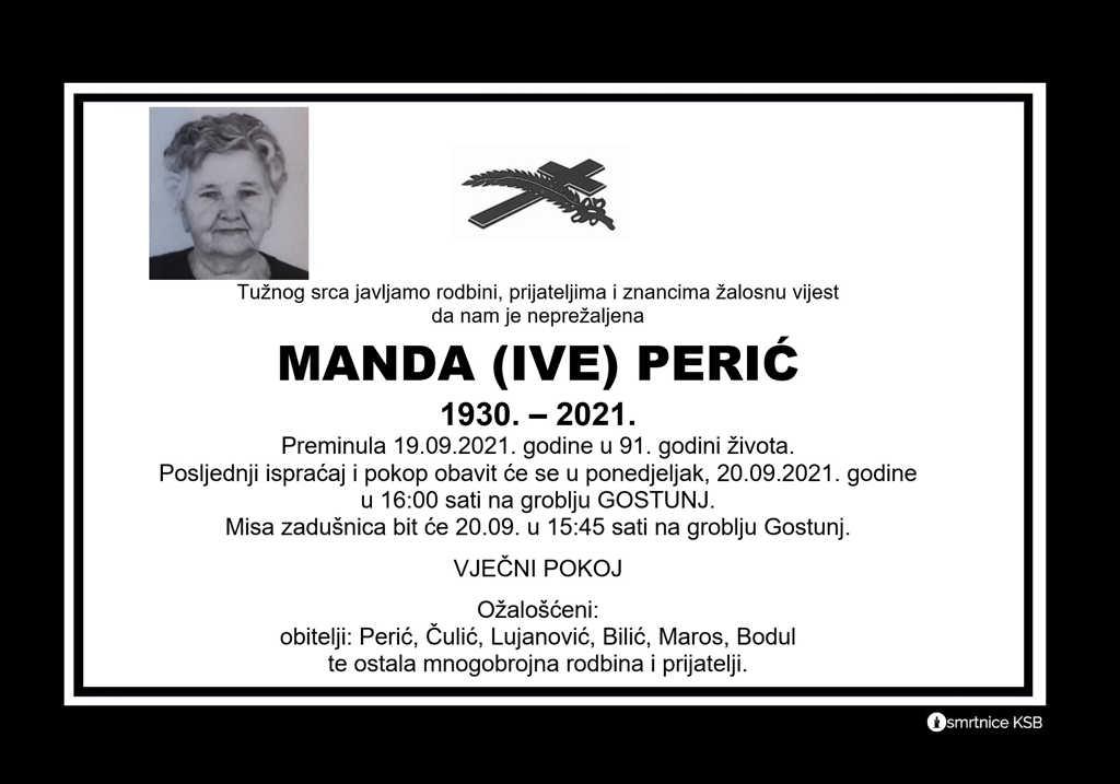 Pročitajte više o članku Manda (Ive) Perić