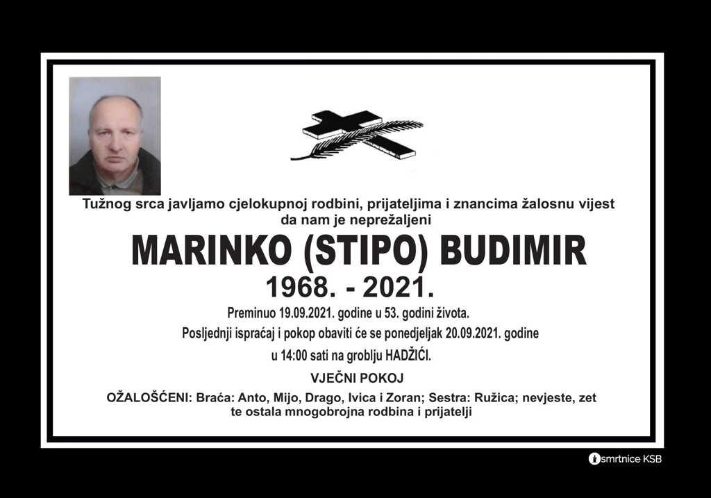 Pročitajte više o članku Marinko (Stipo) Budimir