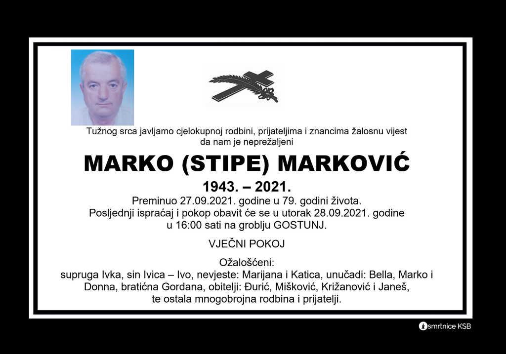 Pročitajte više o članku Marko (Stipe) Marković
