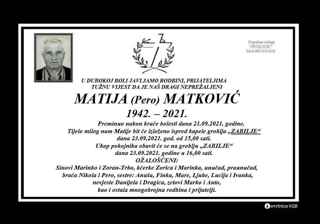 Pročitajte više o članku Matija (Pero) Matković