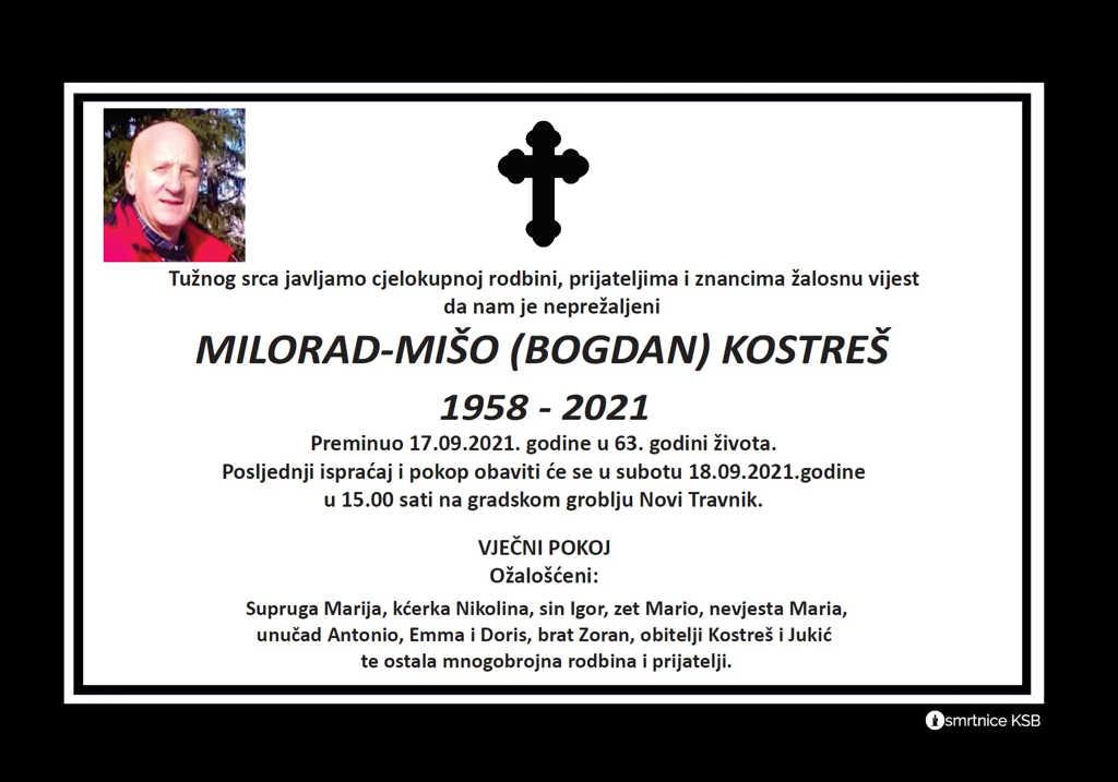 Pročitajte više o članku Milorad – Mišo (Bogdan) Kostreš