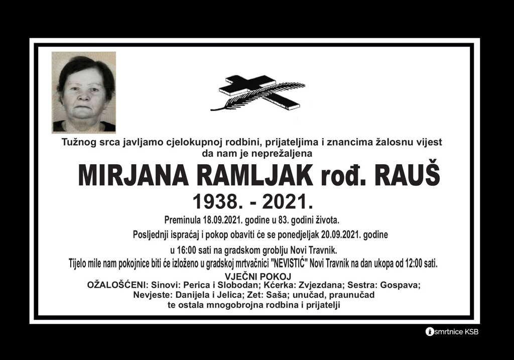 Pročitajte više o članku Mirjana Ramljak rođ. Rauš