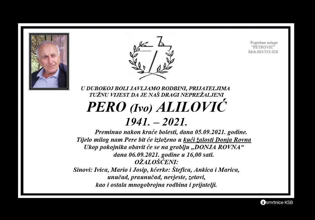 Pročitajte više o članku Pero (Ivo) Alilović