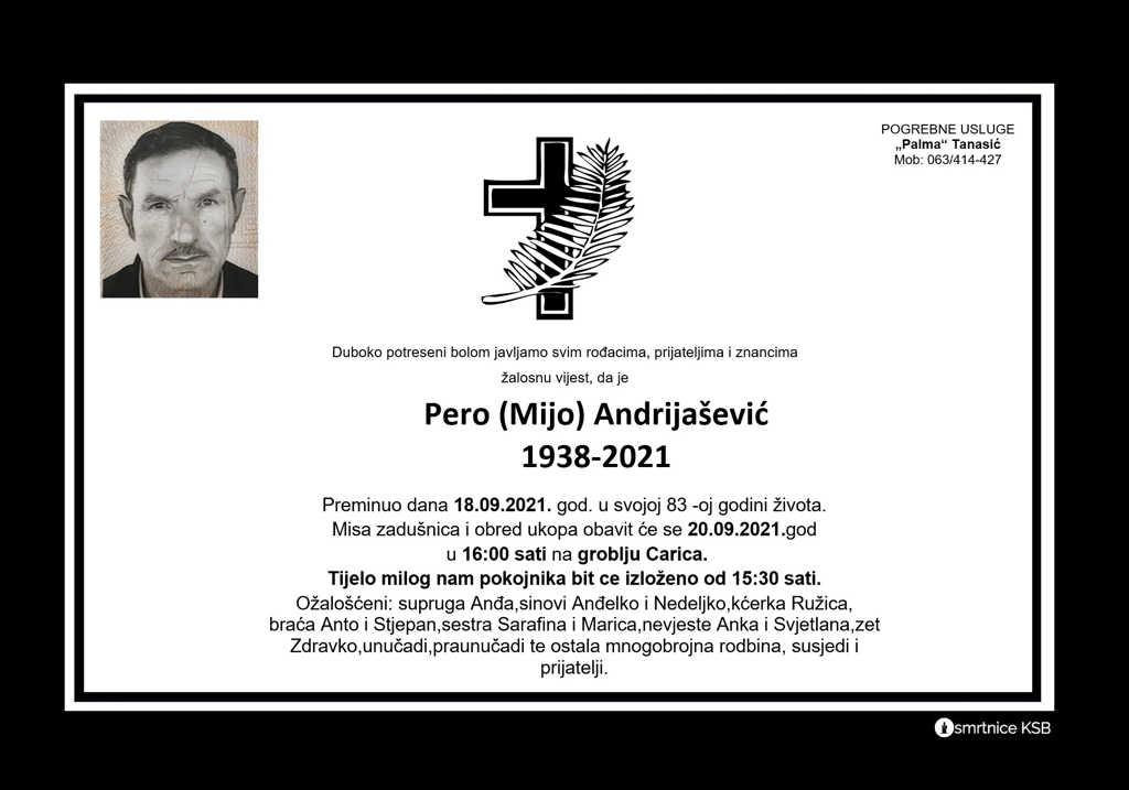 Pročitajte više o članku Pero (Mijo) Andrijašević