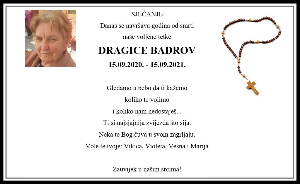 Pročitajte više o članku Sjećanje: Dragica Badrov
