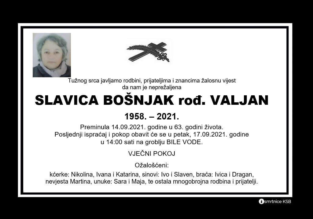 Pročitajte više o članku Slavica Bošnjak rođ. Valjan