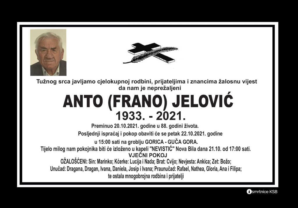 Pročitajte više o članku Anto (Frano) Jelović