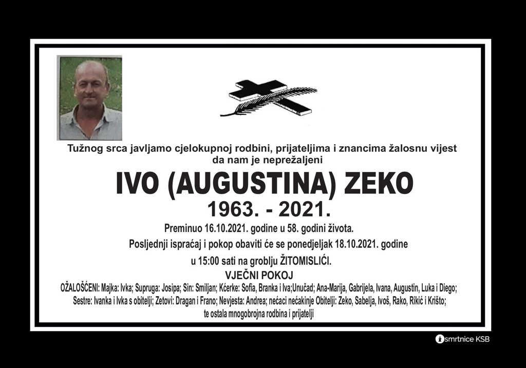 Pročitajte više o članku Ivo (Augustina) Zeko