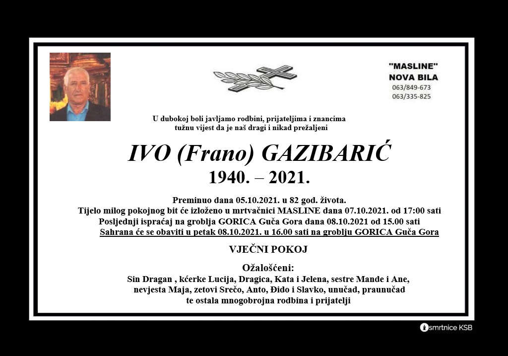 Pročitajte više o članku Ivo (Frano) Gazibarić