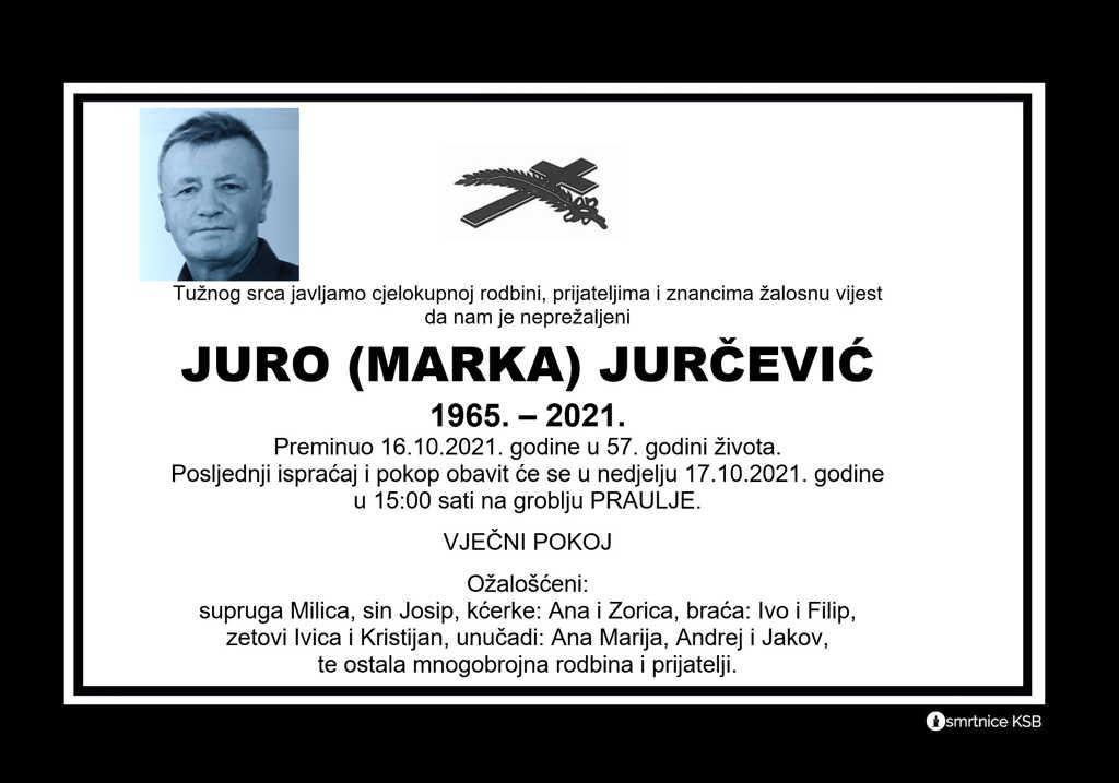 Pročitajte više o članku Juro (Marka) Jurčević