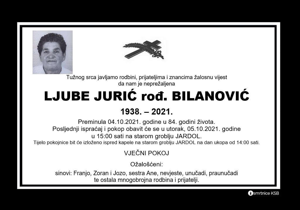 Pročitajte više o članku Ljuber Jurić rođ. Bilanović