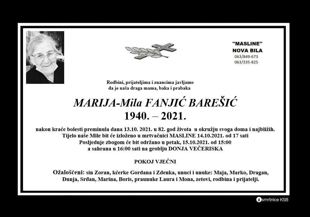Pročitajte više o članku Marija-Mila Franjić Barešić