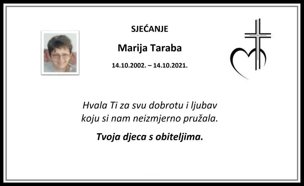Pročitajte više o članku Sjećanje: Marija Taraba