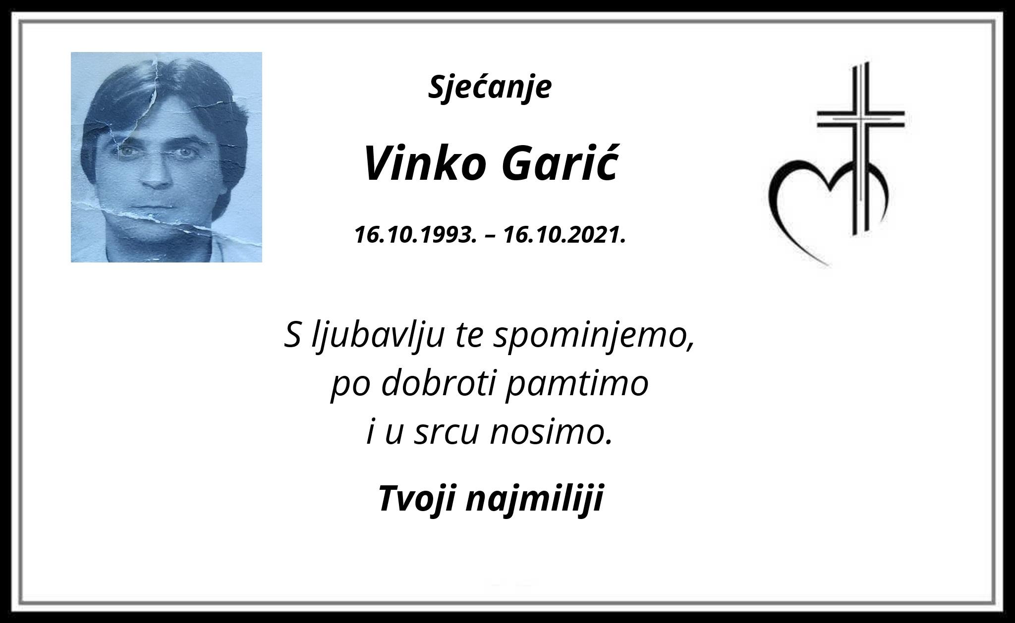 Pročitajte više o članku Sjećanje: Vinko Garić