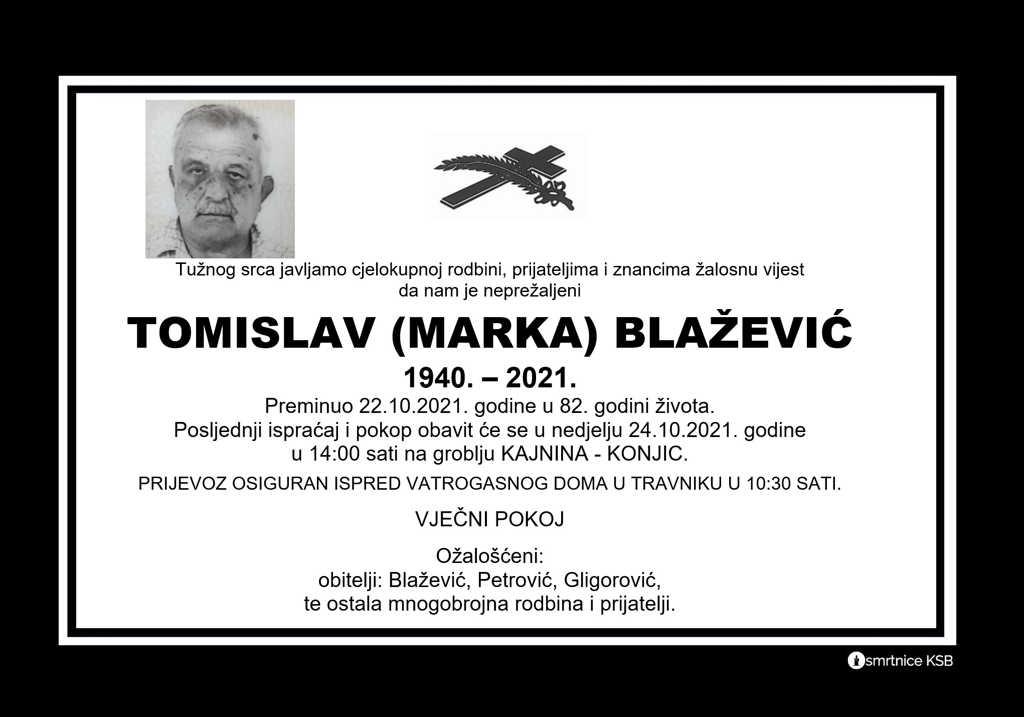 Pročitajte više o članku Tomislav (Marka) Blažević