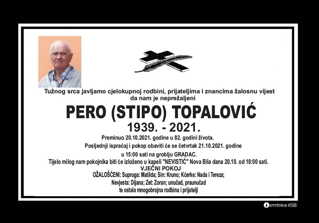 Pročitajte više o članku Pero (Stipo) Topalović
