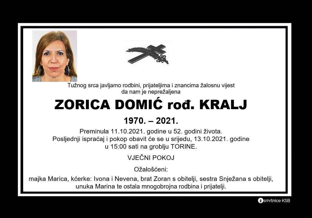Pročitajte više o članku Zorica Domić rođ. Kralj